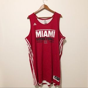 [ adidas ] • #12 Miami basketball jersey